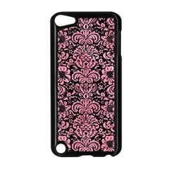 Damask2 Black Marble & Pink Watercolor (r) Apple Ipod Touch 5 Case (black) by trendistuff