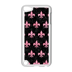 Royal1 Black Marble & Pink Watercolor Apple Ipod Touch 5 Case (white) by trendistuff