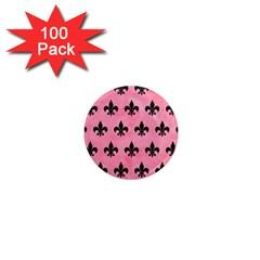 Royal1 Black Marble & Pink Watercolor (r) 1  Mini Magnets (100 Pack)  by trendistuff