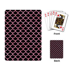 Scales1 Black Marble & Pink Watercolor (r) Playing Card by trendistuff