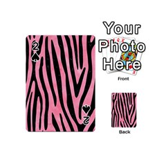 Skin4 Black Marble & Pink Watercolor (r) Playing Cards 54 (mini)  by trendistuff