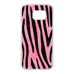 Skin4 Black Marble & Pink Watercolor (r) Samsung Galaxy S7 Edge White Seamless Case by trendistuff