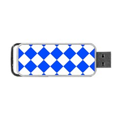 Blue White Diamonds Seamless Portable Usb Flash (two Sides) by Onesevenart