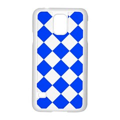 Blue White Diamonds Seamless Samsung Galaxy S5 Case (white) by Onesevenart
