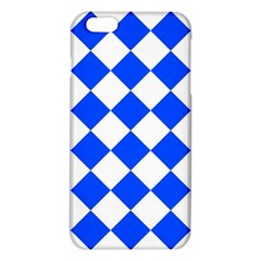 Blue White Diamonds Seamless Iphone 6 Plus/6s Plus Tpu Case by Onesevenart