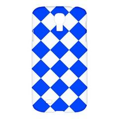 Blue White Diamonds Seamless Samsung Galaxy S4 I9500/i9505 Hardshell Case by Onesevenart