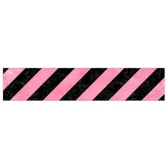 Stripes3 Black Marble & Pink Watercolor (r) Flano Scarf (small) by trendistuff