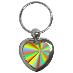 Burst Radial Shine Sunburst Sun Key Chains (heart)  by Onesevenart