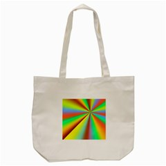 Burst Radial Shine Sunburst Sun Tote Bag (cream) by Onesevenart