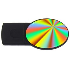 Burst Radial Shine Sunburst Sun Usb Flash Drive Oval (4 Gb) by Onesevenart