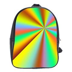Burst Radial Shine Sunburst Sun School Bag (large) by Onesevenart