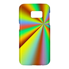 Burst Radial Shine Sunburst Sun Samsung Galaxy S7 Hardshell Case  by Onesevenart