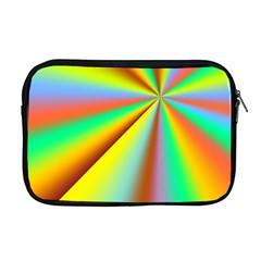 Burst Radial Shine Sunburst Sun Apple Macbook Pro 17  Zipper Case by Onesevenart