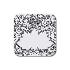 Bouquet Flower Decoration Pattern Rubber Square Coaster (4 Pack)  by Onesevenart