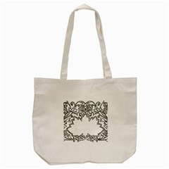 Bouquet Flower Decoration Pattern Tote Bag (cream) by Onesevenart