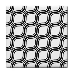 Diagonal Pattern Background Black And White Face Towel by Onesevenart