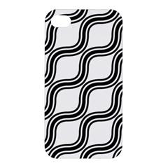 Diagonal Pattern Background Black And White Apple Iphone 4/4s Hardshell Case by Onesevenart