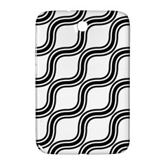 Diagonal Pattern Background Black And White Samsung Galaxy Note 8 0 N5100 Hardshell Case  by Onesevenart
