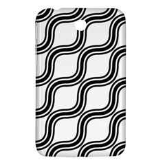 Diagonal Pattern Background Black And White Samsung Galaxy Tab 3 (7 ) P3200 Hardshell Case  by Onesevenart