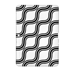 Diagonal Pattern Background Black And White Samsung Galaxy Tab 2 (10 1 ) P5100 Hardshell Case  by Onesevenart