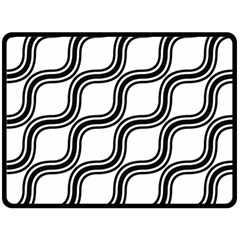 Diagonal Pattern Background Black And White Double Sided Fleece Blanket (large)  by Onesevenart