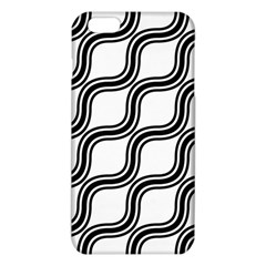 Diagonal Pattern Background Black And White Iphone 6 Plus/6s Plus Tpu Case by Onesevenart