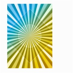 Abstract Art Art Radiation Large Garden Flag (two Sides) by Onesevenart