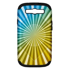 Abstract Art Art Radiation Samsung Galaxy S Iii Hardshell Case (pc+silicone) by Onesevenart