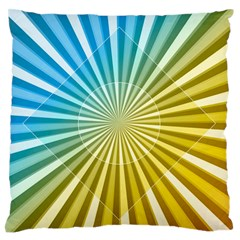 Abstract Art Art Radiation Large Flano Cushion Case (two Sides) by Onesevenart