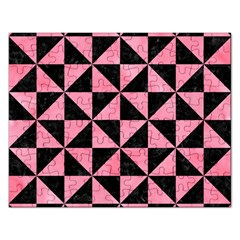 Triangle1 Black Marble & Pink Watercolor Rectangular Jigsaw Puzzl by trendistuff