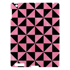 Triangle1 Black Marble & Pink Watercolor Apple Ipad 3/4 Hardshell Case by trendistuff