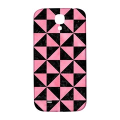 Triangle1 Black Marble & Pink Watercolor Samsung Galaxy S4 I9500/i9505  Hardshell Back Case by trendistuff