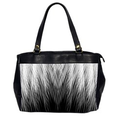 Feather Graphic Design Background Office Handbags (2 Sides)  by Onesevenart