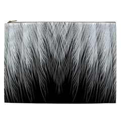 Feather Graphic Design Background Cosmetic Bag (xxl)  by Onesevenart