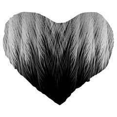 Feather Graphic Design Background Large 19  Premium Flano Heart Shape Cushions by Onesevenart