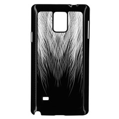 Feather Graphic Design Background Samsung Galaxy Note 4 Case (black) by Onesevenart