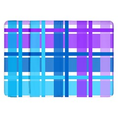 Gingham Pattern Blue Purple Shades Samsung Galaxy Tab 8 9  P7300 Flip Case by Onesevenart