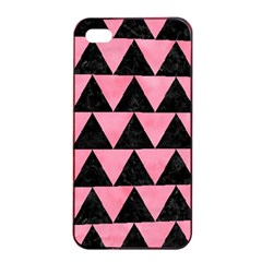 Triangle2 Black Marble & Pink Watercolor Apple Iphone 4/4s Seamless Case (black) by trendistuff