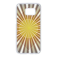 Abstract Art Art Modern Abstract Samsung Galaxy S7 Edge White Seamless Case by Onesevenart