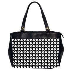 Grid Pattern Background Geometric Office Handbags (2 Sides)  by Onesevenart