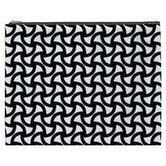 Grid Pattern Background Geometric Cosmetic Bag (xxxl)  by Onesevenart