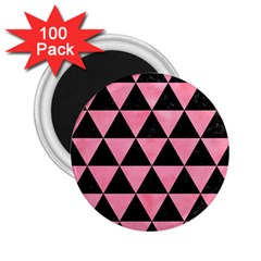 Triangle3 Black Marble & Pink Watercolor 2 25  Magnets (100 Pack)  by trendistuff