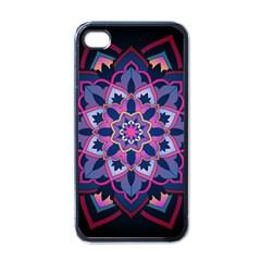 Mandala Circular Pattern Apple Iphone 4 Case (black) by Onesevenart