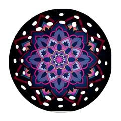 Mandala Circular Pattern Ornament (round Filigree) by Onesevenart