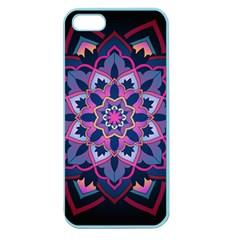 Mandala Circular Pattern Apple Seamless Iphone 5 Case (color) by Onesevenart