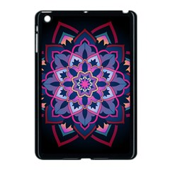 Mandala Circular Pattern Apple Ipad Mini Case (black) by Onesevenart
