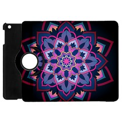Mandala Circular Pattern Apple Ipad Mini Flip 360 Case by Onesevenart