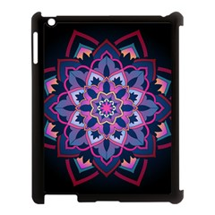 Mandala Circular Pattern Apple Ipad 3/4 Case (black) by Onesevenart
