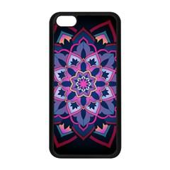 Mandala Circular Pattern Apple Iphone 5c Seamless Case (black) by Onesevenart