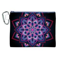 Mandala Circular Pattern Canvas Cosmetic Bag (xxl) by Onesevenart